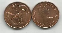 Cayman Islands 1 Cent 1972. - Cayman Islands