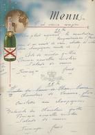 Menu Ancien Champagne De Castellane - Menu