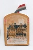 Insigne Carton/ Journée Nationale De Solidarité/ Le Devoir Social/Reconstitution/FURNES/Hermand/ 1917     POIL191 - 1914-18