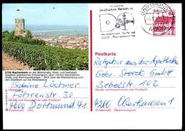 84788) BRD - P 138 - R1/8 - OO Gestempelt - 6706 Wachenheim, Teilansicht Mit Weinreben - [7] West-Duitsland