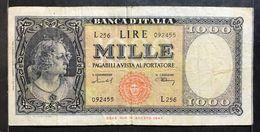1000 LIRE Italia Medusa 11 02 1949 Raro Mb Naturale LOTTO 482 - [ 2] 1946-… : République