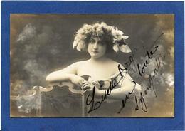 Autographe Signature à L'encre Lisette BERGER Bordeaux  Sur Carte Postale - Autographes