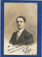 Autographe Signature à L'encre Sur Carte Postale Perier Opéra Scala - Autógrafos