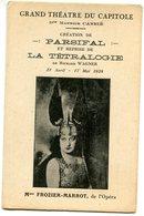 THEATRE DU CAPITOLE(LA TETRALOGIE) FROZIER MARROT - Théâtre