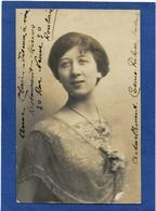 Autographe Signature à L'encre Sur Carte Postale Opéra ANNE CLAIR Roubaix - Autographes