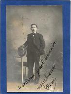 Autographe Signature à L'encre Sur Carte Postale Opéra René - Autographes