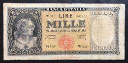 1000 LIRE Italia Medusa 10 02 1948 Biglietto Sostitutivo W346 LOTTO 520 - [ 2] 1946-… : Repubblica