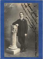 Autographe Signature à L'encre Sur Carte Postale Melgé - Autographes