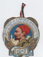 Insigne Carton/ Journée Nationale De Solidarité/Armée D'Afrique Et Troupes Coloniales/Devambez / 1917       POIL195 - 1914-18