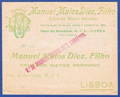 Commercial Cover - Manuel Matos Diez, Filho, Poço Do Borratém . Lisboa - Portugal