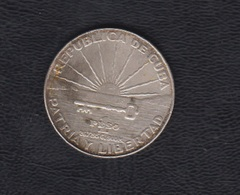 1 PESO PLATA. CENTENARIO MARTÍ.  1853-1953 - Cuba
