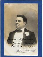 Autographe Signature à L'encre Sur Carte Postale Jean MANEL - Autographes