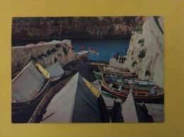 CARTOLINA FORMATO GRANDE VIAGGIATA MALTA BARCHE - Malta