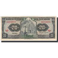 Billet, Équateur, 20 Sucres, 1973-09-03, KM:103b, SPL - Equateur