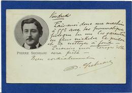 Autographe Signature à L'encre Sur Carte Postale Pierre SECHIARI - Autographes