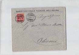 15815 01  HELVETIA BANCA CANTONALE TICINESE BELLINZONA X OLIVONE - 1882-1906 Stemmi, Helvetia Verticalmente & UPU
