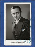 Autographe Signature à L'encre Sur Carte Postale Lucien CHARBONNIER - Autographes