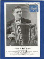 Autographe Signature à L'encre Sur Carte Postale Mario Gardoni - Autographes