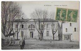 Cpa Bon Etat , Ribérac , Carte Tres Propre , Palais De Justice , 2 Timbres  Semeuses, Courrier Verso , Carte Rare - Autres Communes