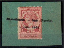 Fiscal Fiscaux,Affiche 20 F Rouget  Sur Fragment TTB - Fiscaux