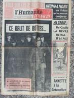 Journal L'Humanité Dimanche (13 Nov 1960) Algérie - Tour De France Tour De L'Avenir - Mourmelon - G Franju - 1950 à Nos Jours