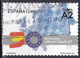 Spagna, 2016 - Aniv. Adhesión España A La UE - Usato° - 2011-... Usati