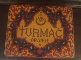 Vecchia SCATOLA DI LATTA SIGARETTE, TURMAC Orange Zurigo Seebach Svizzera - Tabaksdozen (leeg)
