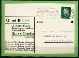 """German Empires Halle/Saale 1931 Firmen Bedarfskarte Mit Kraftpost MWST""""Halle/Saale-Benutzt Die Kraftpost,sicher..""""1Karte - Brieven"""