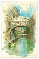 1900's, Italy, Venezia, Ponte Del Sospiri. Printed Art Pc, Unused. - Venezia (Venice)