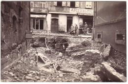 CASTRES - Placette Du Pont Vieux Et Rue Fagerie Le 3 Mars 1930 Après Inondation.( Légende Inscrite Au Verso..) - Castres