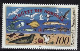 ALLEMAGNE   N°  1286  * *  ( Cote 3e )  Oiseaux Poissons Phoque Crabe Plage - Oiseaux