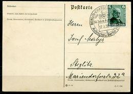 """German Empires,DR 1936 Bedarfspostkarte Mit Mi.Nr.604 Und SST""""Berlin-50 Jahre Automobil,Autoschau """"1 Karte - Cars"""