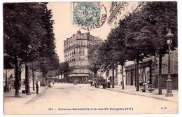 2441 - Paris ( XXe ) - Avenue Gambetta à La Rue Saint-Fargeau - C.P. - N°224 - - Arrondissement: 20