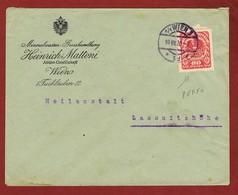 Infla Ab 15 April 1920 Brief Firmenochung Perfin M ( Mattoni) - 1918-1945 1. Republik