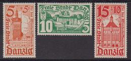 Germany  Allemagne Danzig 1935 Opera Di Soccorso Invernale 215/17 MH - Danzig