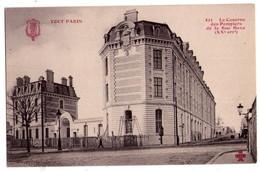 2442 - Paris ( XXe ) - La Caserne Des Pompiers De La Rue Haxo - N° 423 - Trèfle CCCC - - Arrondissement: 20