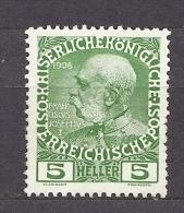 AUSTRIA Österreich 1908 MNH ** Mi 142 Franz Joseph - Unused Stamps
