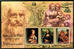 MOLDAVIA / MOLDOVA 2002** - Leonardo Da Vinci - Block MNH Come Da Scansione - Célébrités