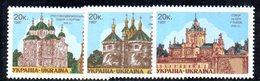335 490 - UCRAINA 1997 , Unificato 294/296  Integra  ***  CHIESE - Ucraina