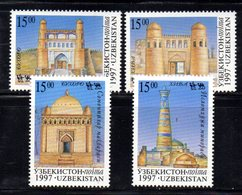 725 490 - UZBEKISTAN 1997 , Unificato Serie N. 152/155  ***  Via Della Seta - Uzbekistan