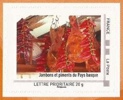 """FRANCE 2012 Collector """" L' Aquitaine """" : Jambon Et Piments Du Pays Basque -Tbre Neuf ** (adhésif) - Collectors"""