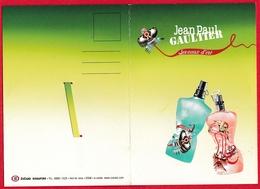 CARTE POSTALE DOUBLE  JEAN-PAUL GAULTIER - LES EAUX D'ETE -  VOIR LES PHOTOS - Perfume Cards