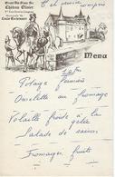 Menu Ancien Leognan-vin Blanc 1er Cru Graves-chateau Olivier-louis Eschenauer - Menus