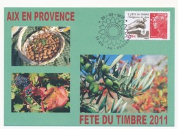Carte Locale - Fête Du Timbre AIX En PROVENCE 2011 - Protégeons La Terre (Beaujard) - 26.2.2011 - France