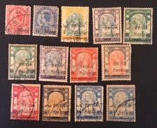 Siam 1909/10 Yvert Et Tellier N°84 à 95 (sauf N°85) - Siam