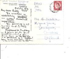 Grande-Bretagne ( Carte Postale De 1955 En Service Campagne De Tripoli Vers La Grande-Bretagne à Voir) - Covers & Documents