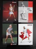 LOTTO Tennis Player Lot De 4 Cartes Postales - Tennis