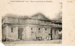 CHIRY-OURSCAMP...ecurie Construite Par Les Allemands....en L Etat .voir Scan...coupure  En Bas A Gauche... - Other Municipalities