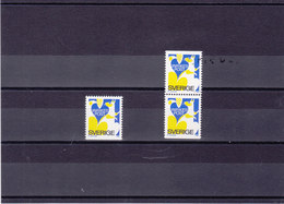 SUEDE 1980 ECUREUIL Yvert 1087 + 1087a NEUF** MNH - Suède