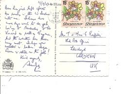 Guyane ( CP De 1973  Vers La Grande-Bretagne à Voir) - Guyana (1966-...)